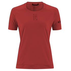 Cube AM Round Neck Jersey shortsleeve Dame dark red